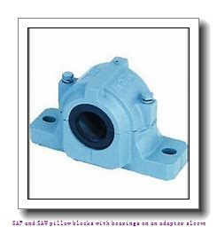 skf SAFS 22516 x 2.5/8 T SAF and SAW pillow blocks with bearings on an adapter sleeve