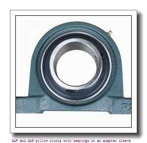 skf FSAF 22520 T SAF and SAW pillow blocks with bearings on an adapter sleeve
