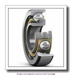 75 mm x 130 mm x 25 mm  skf 7215 BEGAY Single row angular contact ball bearings