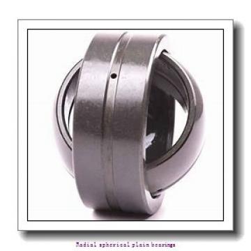 35 mm x 55 mm x 25 mm  skf GE 35 ES-2RS/C3 Radial spherical plain bearings