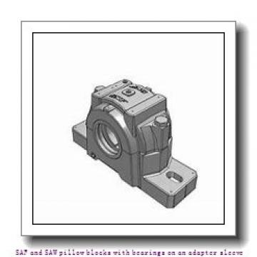 skf SAW 23526 x 4.5/16 SAF and SAW pillow blocks with bearings on an adapter sleeve