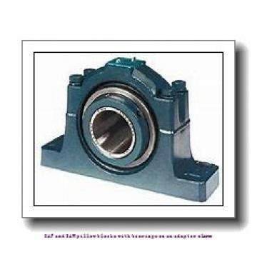 skf SAF 1516 x 2.3/4 SAF and SAW pillow blocks with bearings on an adapter sleeve