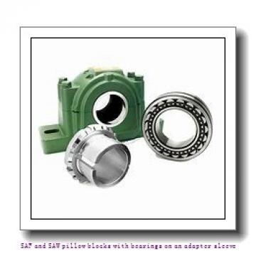 skf SAFS 23026 KA x 4.5/16 SAF and SAW pillow blocks with bearings on an adapter sleeve