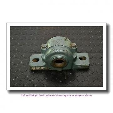 skf SAF 22609 x 1.1/2 SAF and SAW pillow blocks with bearings on an adapter sleeve