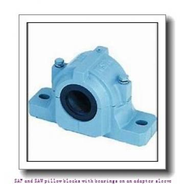 skf SAF 1522 x 3.13/16 T SAF and SAW pillow blocks with bearings on an adapter sleeve