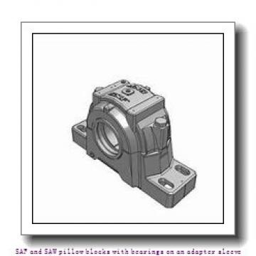 skf SAF 1613 x 2.1/8 T SAF and SAW pillow blocks with bearings on an adapter sleeve