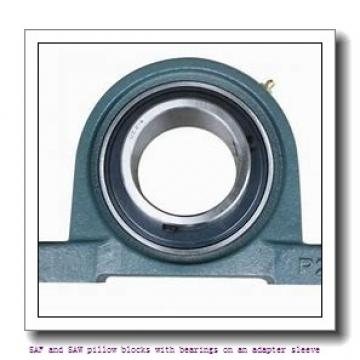 skf SAF 22624 x 4 SAF and SAW pillow blocks with bearings on an adapter sleeve