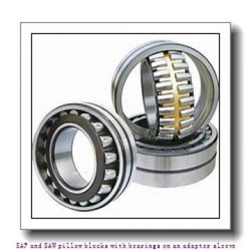 skf SAF 22515 x 2.3/8 SAF and SAW pillow blocks with bearings on an adapter sleeve