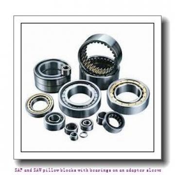 skf SAF 1517 x 2.7/8 TLC SAF and SAW pillow blocks with bearings on an adapter sleeve