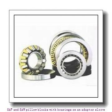 skf SAFS 23024 KATLC-11 x 4 SAF and SAW pillow blocks with bearings on an adapter sleeve