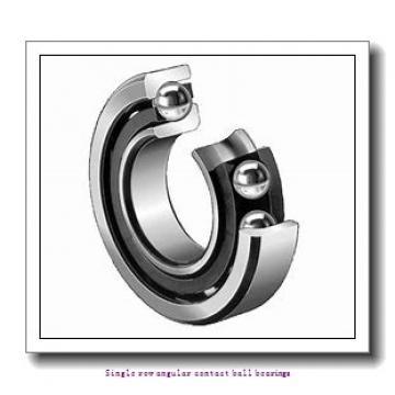 90 mm x 190 mm x 43 mm  skf 7318 BEM Single row angular contact ball bearings