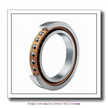 55 mm x 100 mm x 21 mm  skf 7211 BECBM Single row angular contact ball bearings