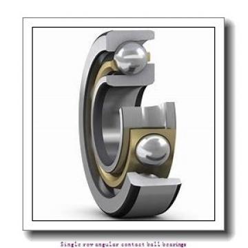 75 mm x 130 mm x 25 mm  skf 7215 BECBM Single row angular contact ball bearings