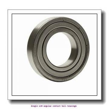 90 mm x 190 mm x 43 mm  skf 7318 BEP Single row angular contact ball bearings